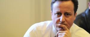 David Cameron Face Hand
