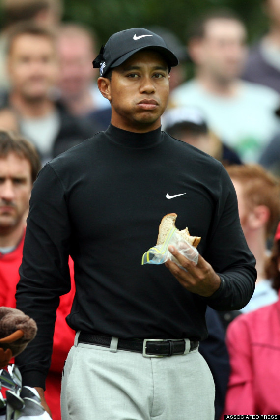 tiger woods eating