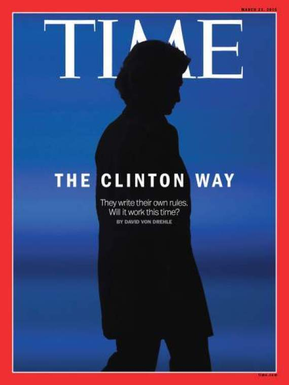 time hillary clinton cover