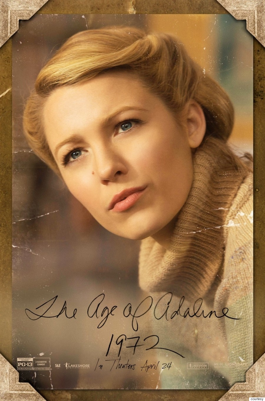 Blake Lively's 'Age Of Adaline' Posters Are A History ...