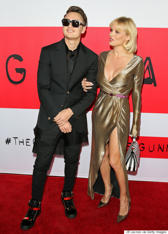 Pamela Anderson And Son Brandon Hit The Red Carpet Huffpost