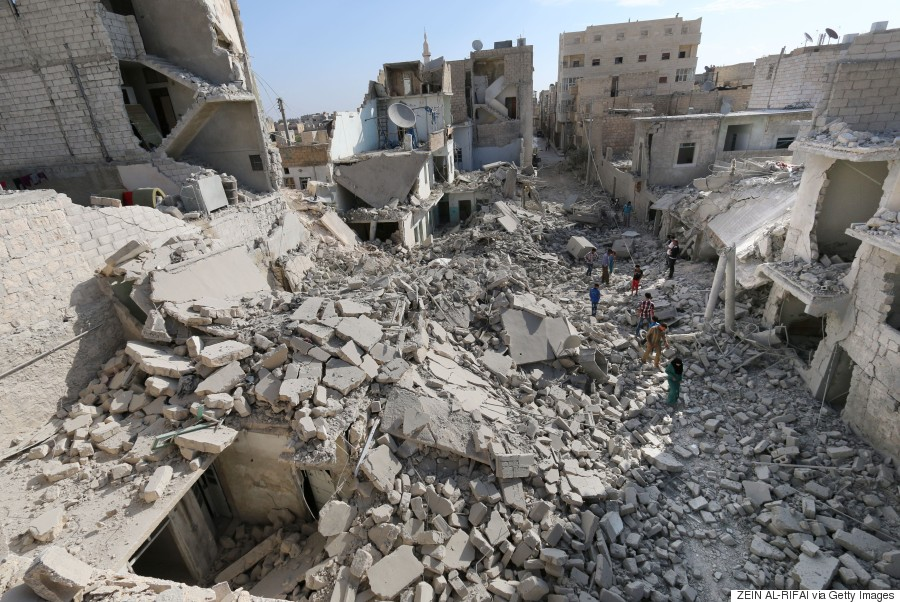 destroyed aleppo