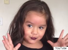 4-Year-Old Explains Why She Went Into Mom's Makeup And Gave Herself A 'Makeover'