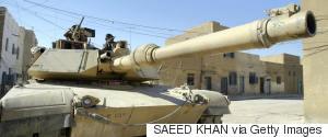 IRAQ AMERICAN TANK