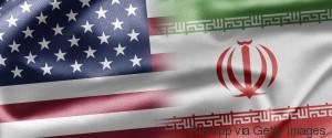 IRAN USA FLAGS