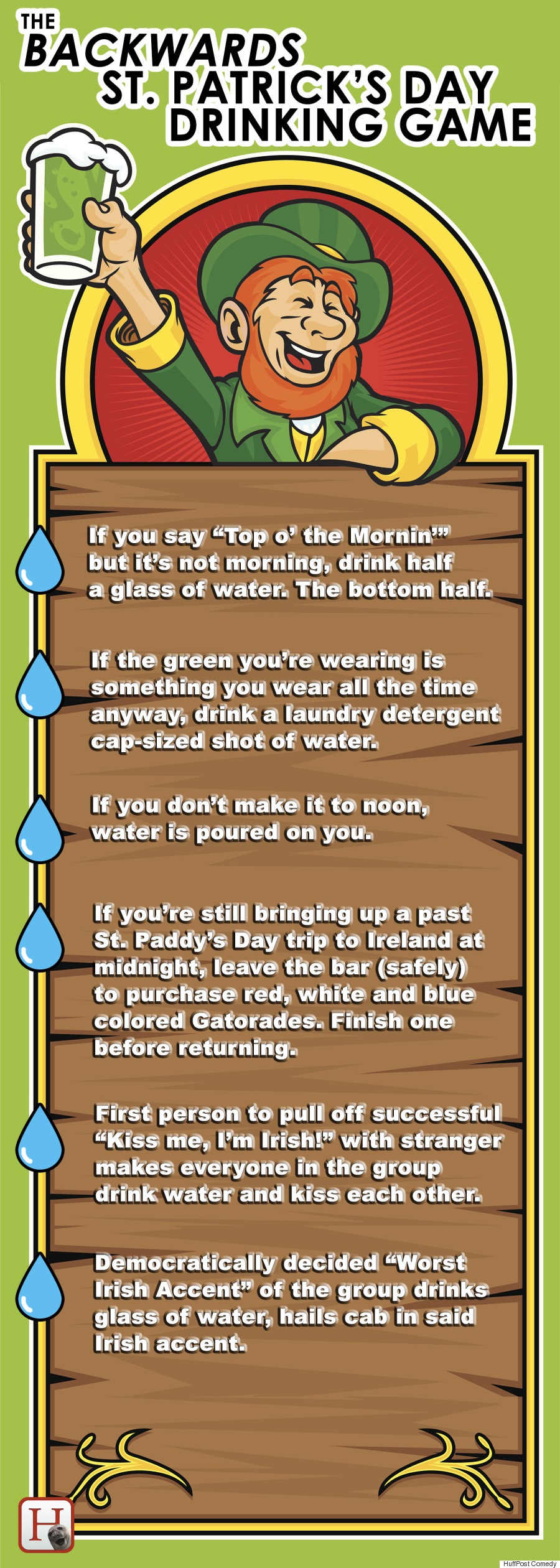 backwards st patricks day drinking game