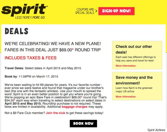 Active Spirit Airlines Coupons & Deals for February 12222