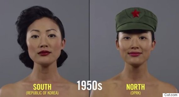 the south korean styles appear more western while north korean hair ...
