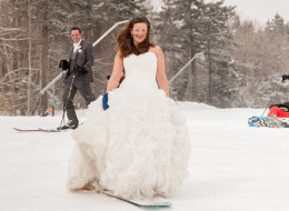 This Couple's Ski Wedding Photos Will Make You Want To Hit The Slopes
