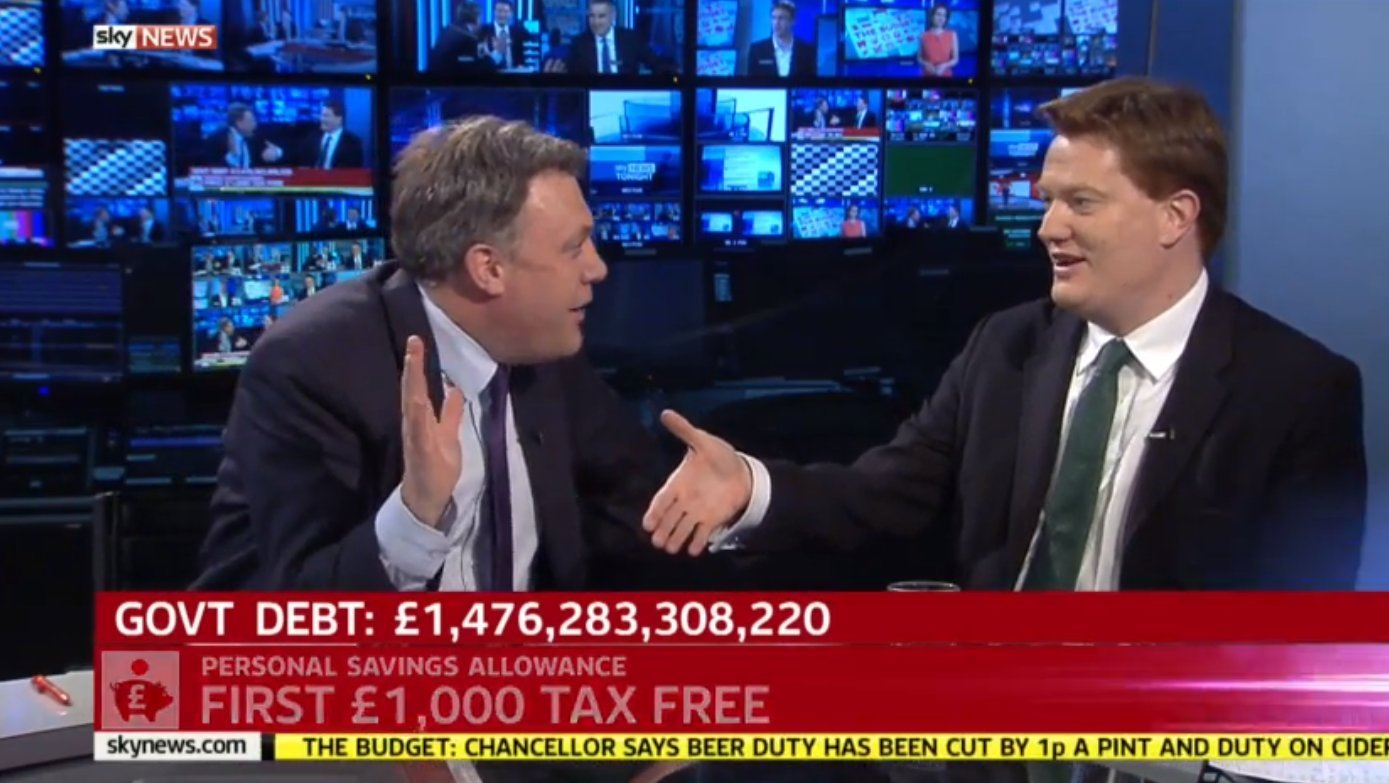 Images Budget 2015: Danny Alexander Fails To Get Ed Balls To Shake His Hand:
