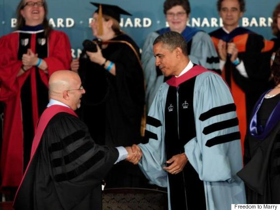 In 2012, Evan Wolfson received the Barnard Medal of Distinction along with President Barack Obama.