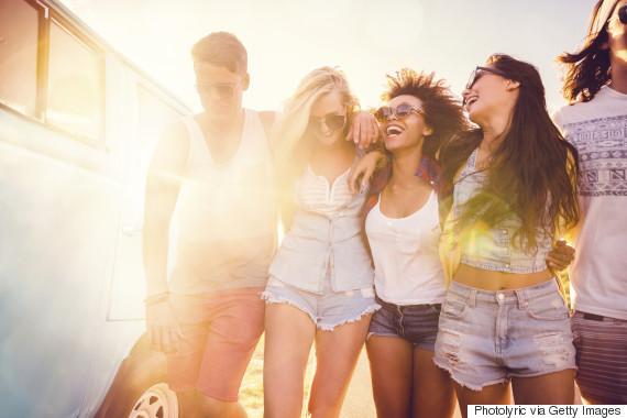 friends happy