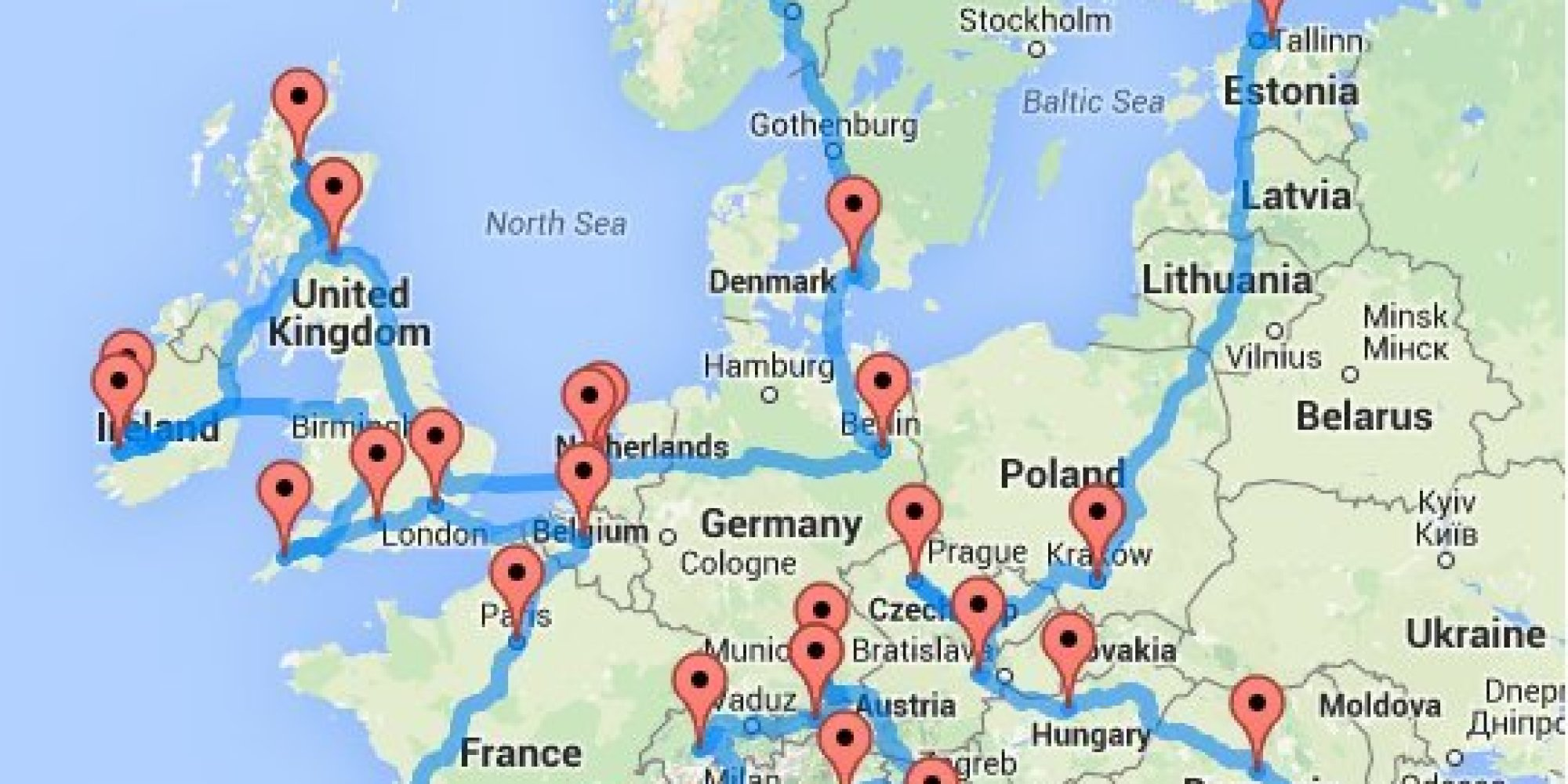 This Guy Planned The Best European Road Trip So You Dont Have To – Europe Travel Map Planner