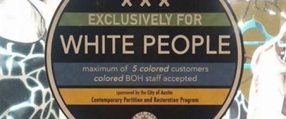 WHITES ONLY STICKER