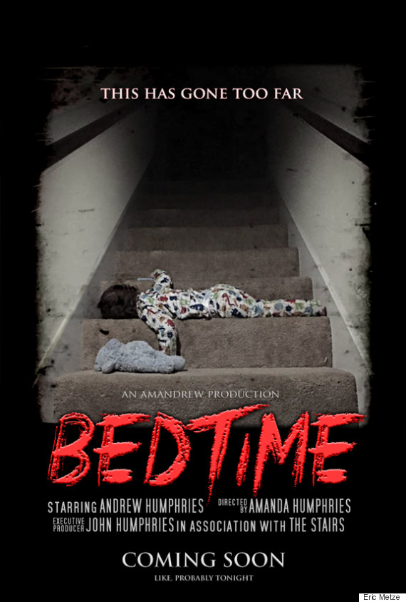 dad 39 s fake movie poster gives bedtime with a toddler the dramatic treatment it deserves huffpost