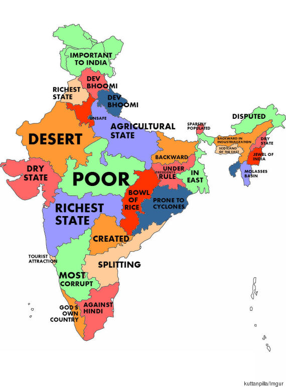 What The World Thinks Indian States According To Google