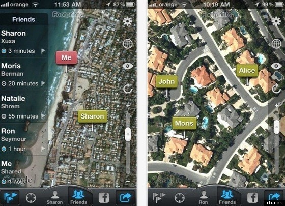 how to track my wife s iphone footprints iphone app lets you track your spouse 19158