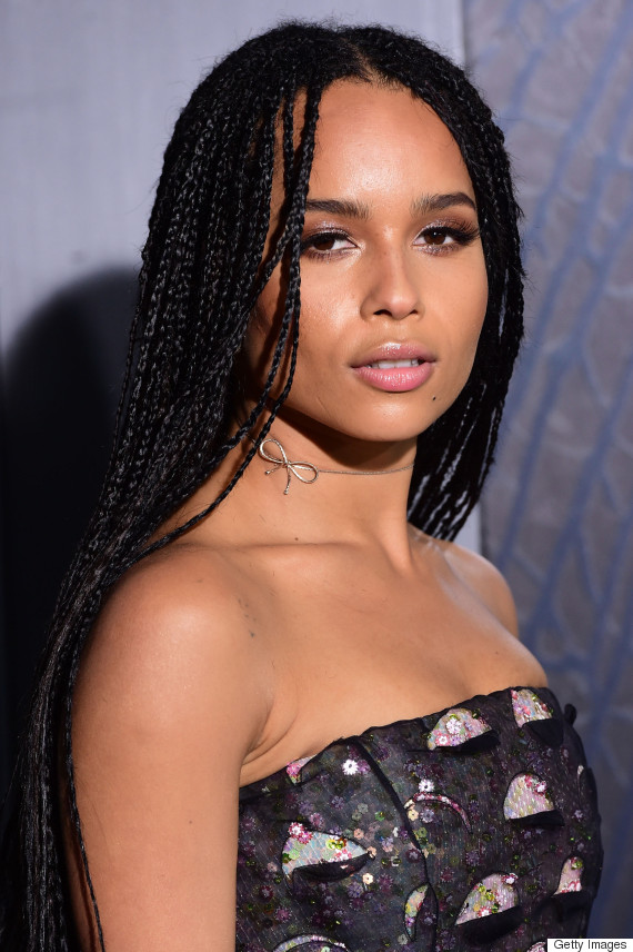 Zoe Kravitz S Beautiful Box Braids Amp More Celebrity Beauty