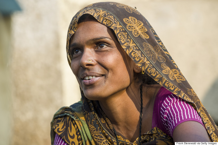 india woman working