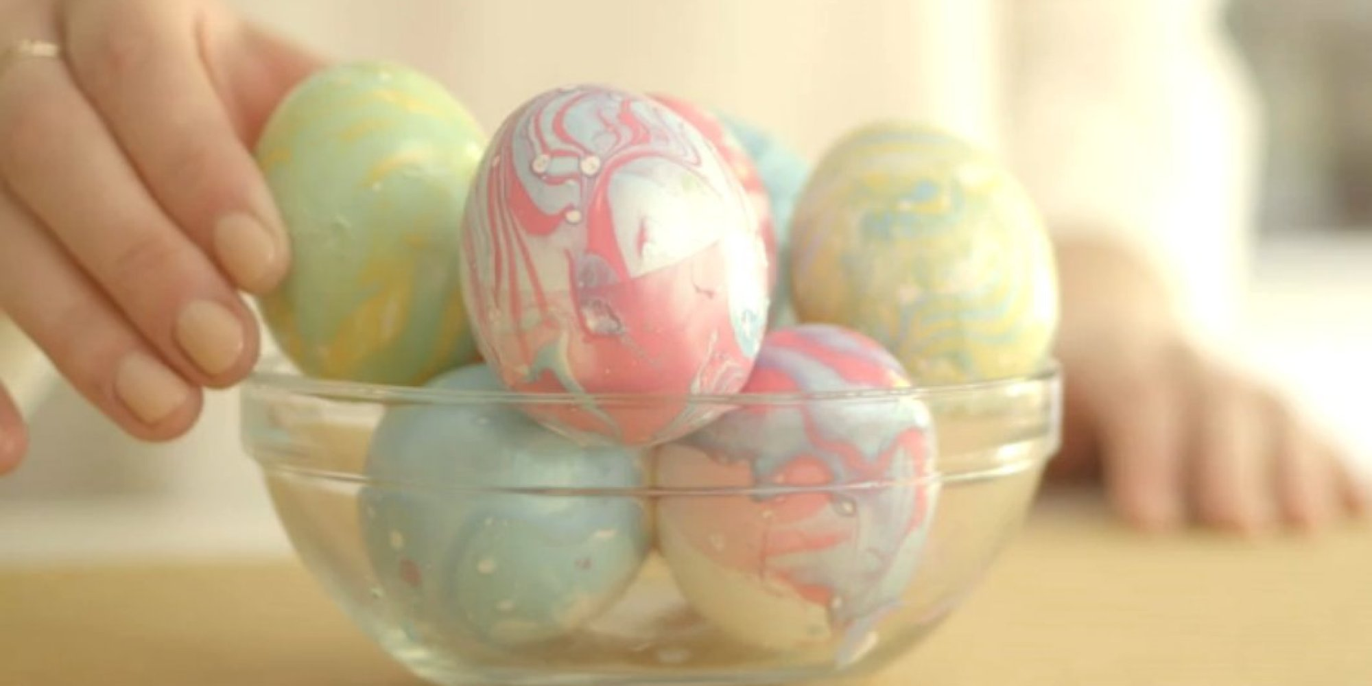 How To Dye Easter Eggs With Nail Polish Huffpost