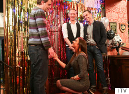 Is Michelle Proposing To Steve (Or Has She Just Lost An Earring)?