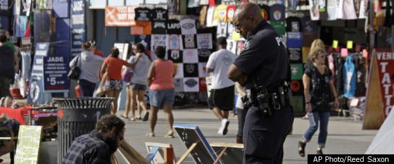 POLICE AT VENICE BEACH