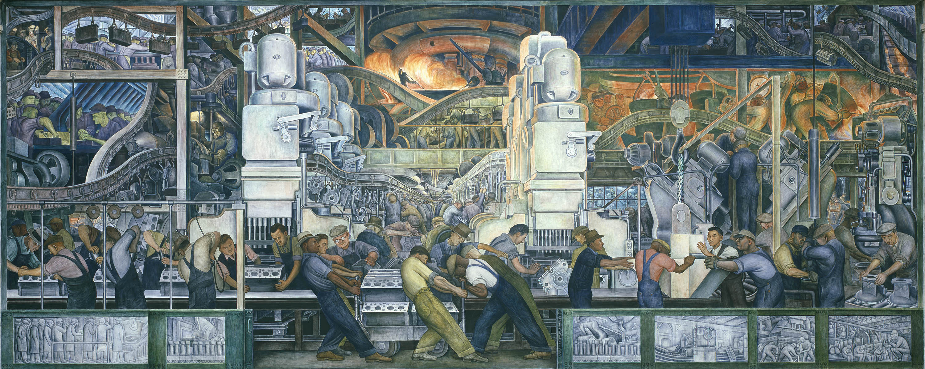 A rare look at how diego rivera turned sketches into his for Mural diego rivera