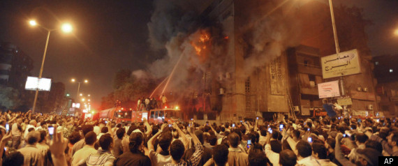 CAIRO EGYPT MUSLIMS CHRISTIANS FIRE PROTESTS