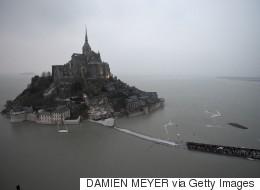 'Tide Of The Century' Hits France's Mont Saint-Michel