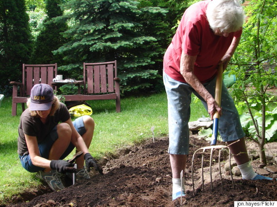 gardening with mom
