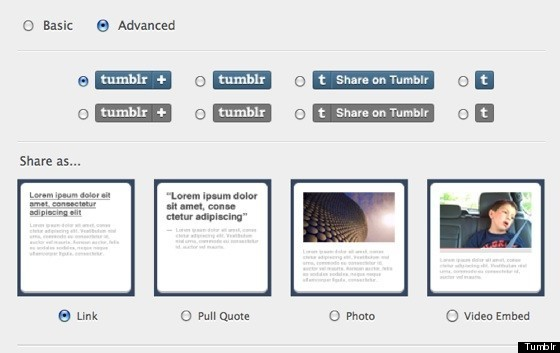 tumblr share button lets you reblog content from third party sites rh huffingtonpost com share tumblr video on facebook share tumblr post on twitter