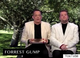 Watch James Corden And Tom Hanks Reenact All Hanks's Movies In 8 Minutes On 'The Late Late Show'