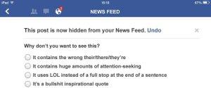 FACEBOOK NEWS FEED SPOOF