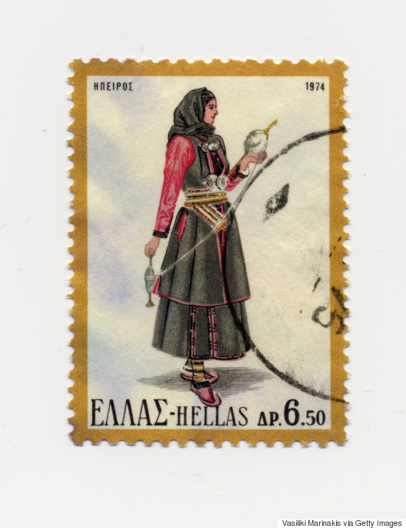 greek costumes stamps