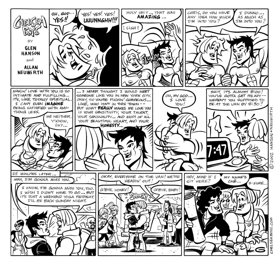 Gay sex comic black and white