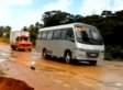 WATCH: Huge Brazilian Sinkhole Swallows Bus, Carries It Downriver