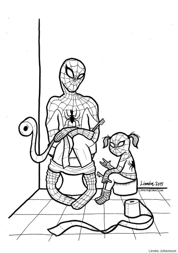 spiderman - Super Heroes Coloring Book