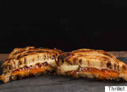 How To Make A Cinnamon Roll Grilled Cheese With Hot Pepper Jelly