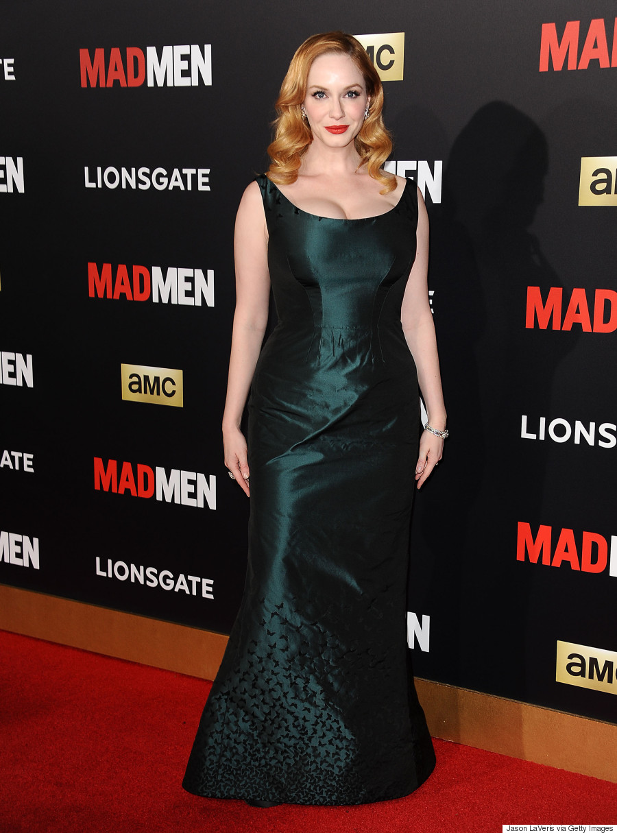 Christina Hendricks Wears A Two In One Dress Wows Us All