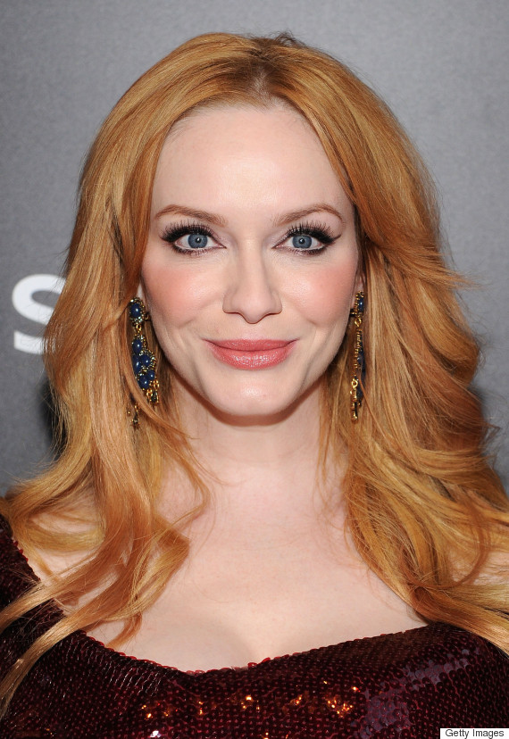 christina hendricks strawberry blonde hair tops this week