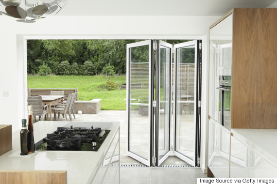 this is popular at the moment and can be done in a variety of ways adding bifold doors to the back of the house will open up the property