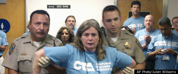 CALIFORNIA TEACHER PROTESTS