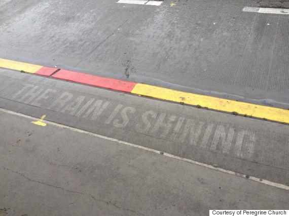 sidewalk rain seattle