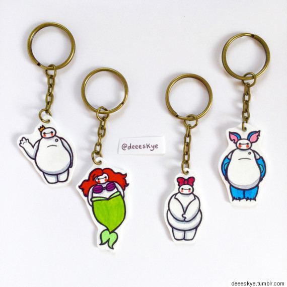 baymax key rings