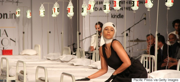 Models Pose On Hospital Beds, Fake Seizures At Medically Themed Fashion Show (PHOTOS)