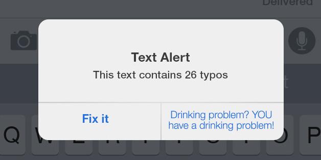 passive aggressive iphone notification