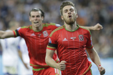 Aaron Ramsey and Gareth Bale celebrate | Pic: AP