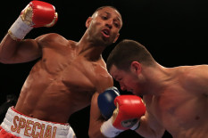 Kell Brook (left) and Jo Jo Dan in action | Pic: PA