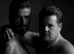 Becks And Corden Get (Nearly) Naked For Hilarious Underwear Ad