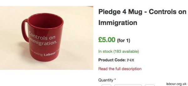 Labour's Immigration Mug Will Be a Collector's Item For Racists Up and Down the Country